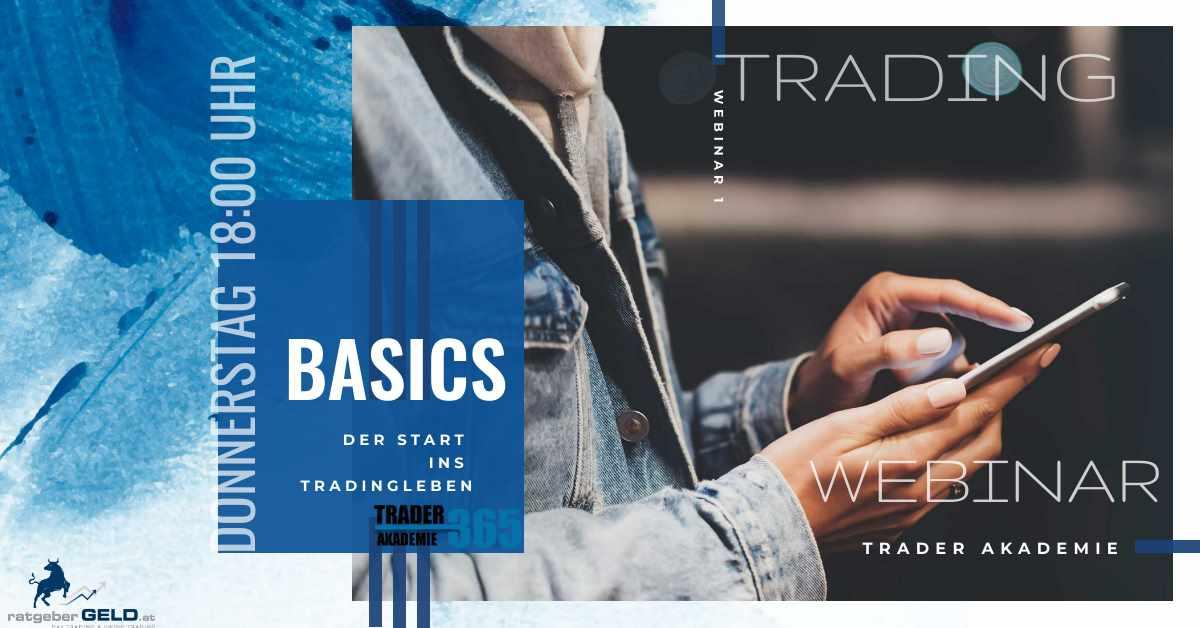 Titelbild zum ersten Webinar der Trader Akademie